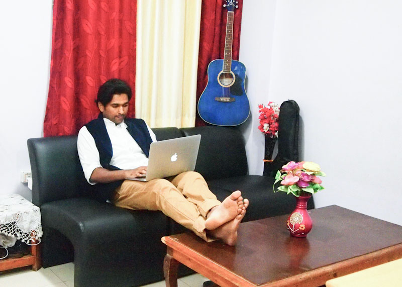 Asif Ahmed in his Home Office