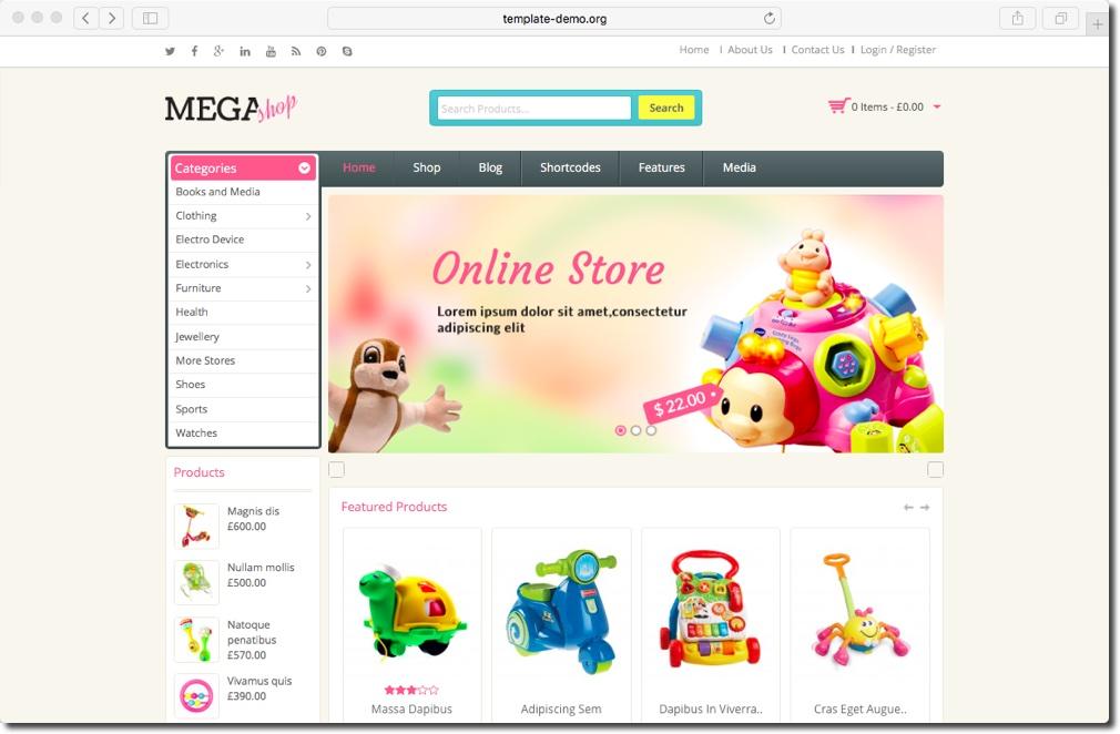 MegaShope_eCommerceWordPressThemes